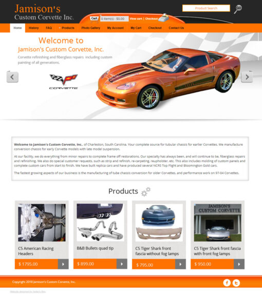 Jamison Custom Corvettes Website
