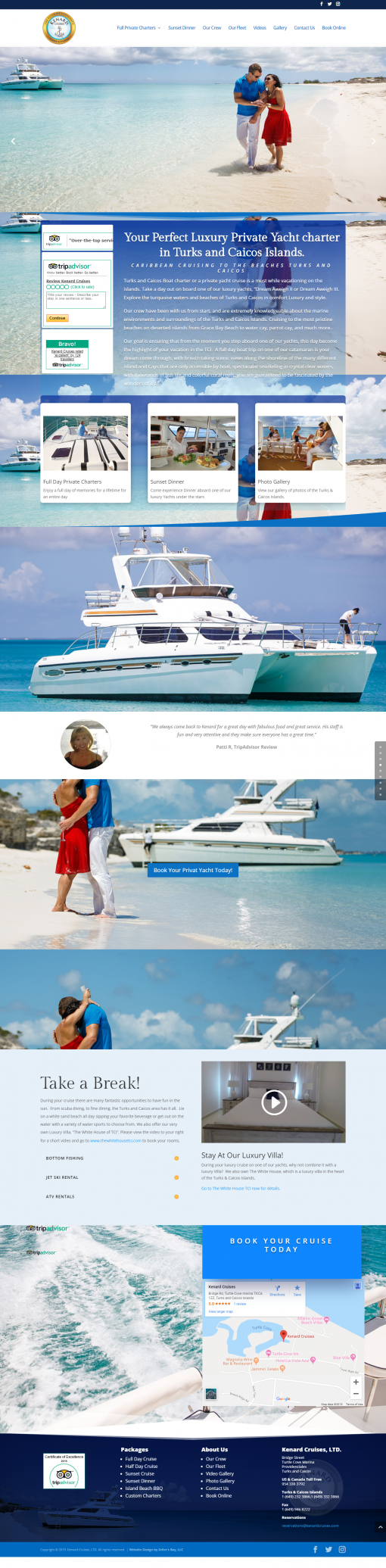 Custom Website For Kenard Cruises