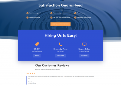 Custom WordPress website for Sister's Cleaning Services